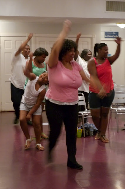 Healthy U participants exercise with instructor Rodney Jordan on June 9, 2012. Photo by Lucia Effros.