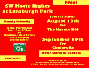 August-Sept Movie Night Flyer