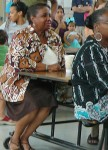 Former Principal Almeta Hawkins attended the Sept. 8th Open House. (Photo by Perry Klein)