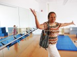 Naomi Mitchell, DC Ward 6 Community Relations, is inspired by Amidon-Bowen's new Dance Studio. (Photo by Perry Klein)