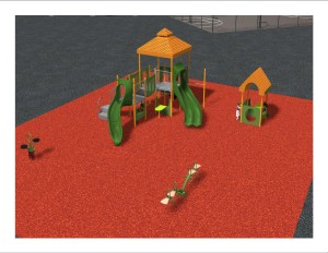 The section of playground for children aged 3-5.