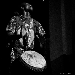 Michael Kweku Owusu of the Akoma Drummers. (Photo: Gabriel Jones)