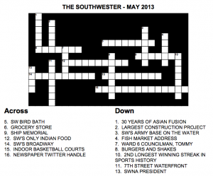 May 2013 Crossword